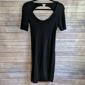 Wilfred Little Black Dress with Back Cut Out